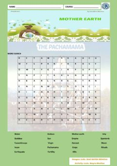 Interactive worksheet Pachamama word search
