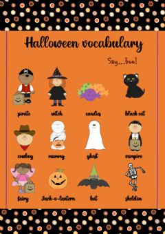 Ficha interactiva Halloween pictionary