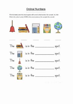 Ficha interactiva Ordinal Numbers