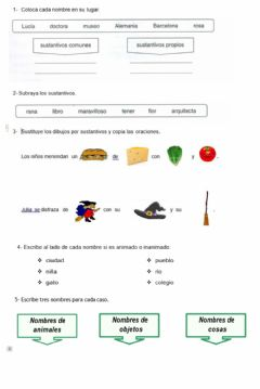Interactive worksheet Repaso Castellano Tema 1