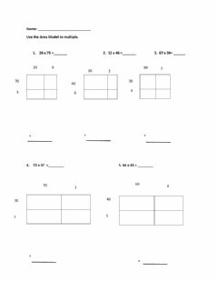 Interactive worksheet Multiplication with partial products