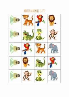 Interactive worksheet Which animal is it?