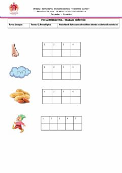 Interactive worksheet Conciencia Fonológica