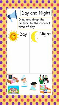Interactive worksheet Day and Night Routine