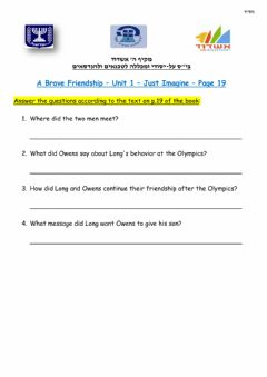 Interactive worksheet A Brave Frienship - Just Imagine - p.19