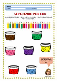 Interactive worksheet Separando por Cor