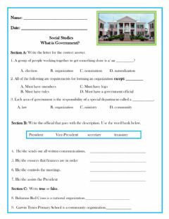 Interactive worksheet What is Government?