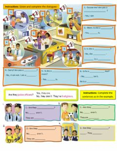 Interactive worksheet People in town Yes no Questions