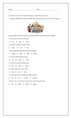 Interactive worksheet Story Elements Character