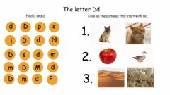 Interactive worksheet The Letter Dd
