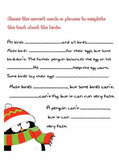Interactive worksheet All about birds
