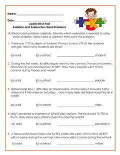 Interactive worksheet Addition and Subtraction Word Problems