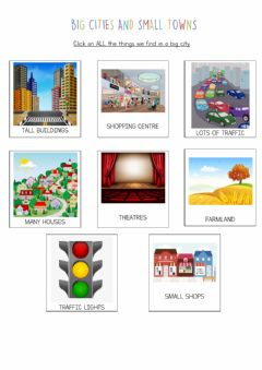 Interactive worksheet Big cities and small towns