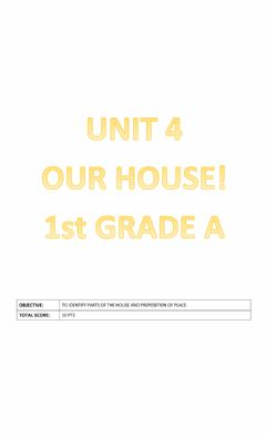 Ficha interactiva Unit 4: Our house!