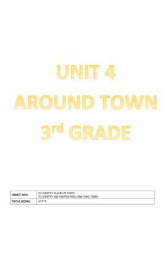 Ficha interactiva Unit 4:Around town