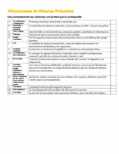 Interactive worksheet Micro de ciencias