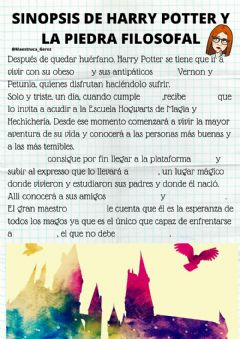 Interactive worksheet Sinopsis de harry potter y la piedra filosofal