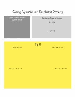 Interactive worksheet Solving Equations with Distributive Property Notes