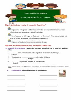 Interactive worksheet GTA comunicación 12.parte I