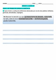 Interactive worksheet Ficha IV LCL T-4  5º EPO