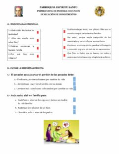 Interactive worksheet Catequesis
