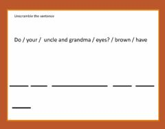 Interactive worksheet Unscramble the sentence