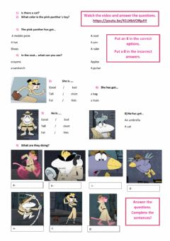 Interactive worksheet Pink panther  is a SPY