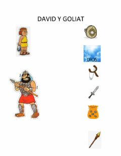 Interactive worksheet David y goliat