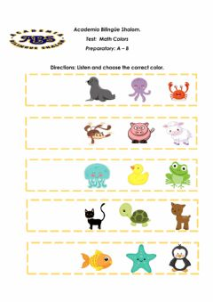 Interactive worksheet Animals colors