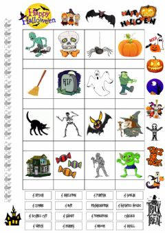 Interactive worksheet Pad Halloween3