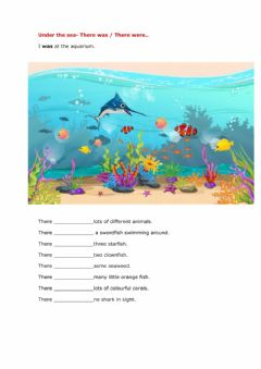 Interactive worksheet Under the sea