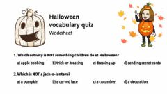 Ficha interactiva Halloween vocabulary quiz