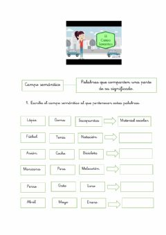 Interactive worksheet Campo semántico