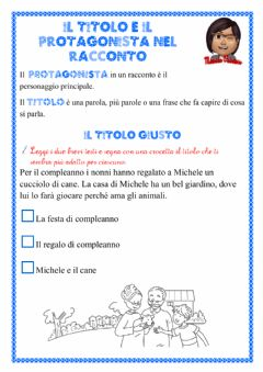 Interactive worksheet Il titolo