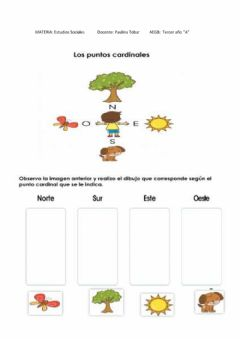 Interactive worksheet Puntos cardinales