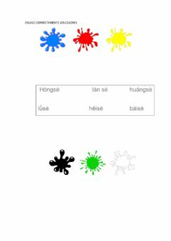 Interactive worksheet 我学习汉语 colors
