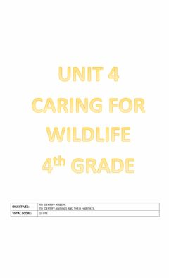 Ficha interactiva Unit 4: Caring for wildlife