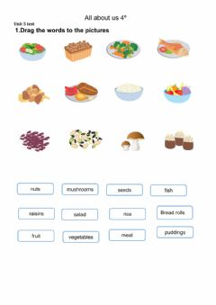 Interactive worksheet All about Us 4º unit 5 test