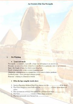 Interactive worksheet An Overview of the Giza Necropolis