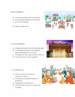 Interactive worksheet Comercio