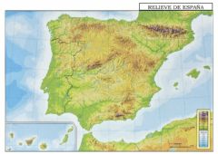 Interactive worksheet MAPA MUDO RELIEVE Y PICOS DE ESPAÑA