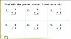 Interactive worksheet Count on to add