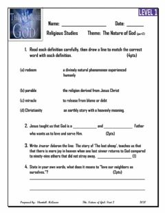 Interactive worksheet The Nature of God: Part 2