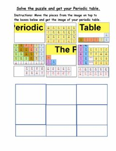Interactive worksheet Periodic table- Jigsaw