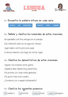Interactive worksheet Repaso determinantes