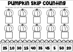 Ficha interactiva Counting by 5's Halloween Sheet