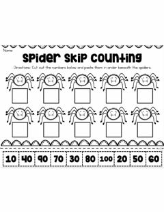 Ficha interactiva Counting by 10's Halloween Sheet