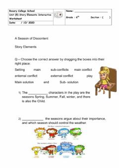 Interactive worksheet A Season of Discontent Worksheet