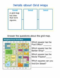 Interactive worksheet Reading Grid Maps