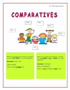 Interactive worksheet Comparative adjectives